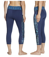 Gaiam Luxe Yoga Capri Print Midnight Patchwork
