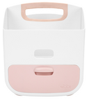 Ubbi Diaper Caddy White & Light Pink