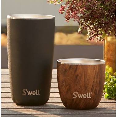 S\'well Tumbler Stainless Steel Insulated Cup Teakwood