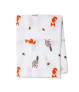 Lulujo Forest Friends Swaddling Blanket