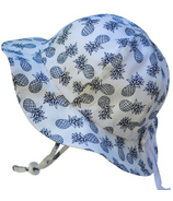 Twinklebelle Grow-With-Me Baby Sun Hat White Pineapple