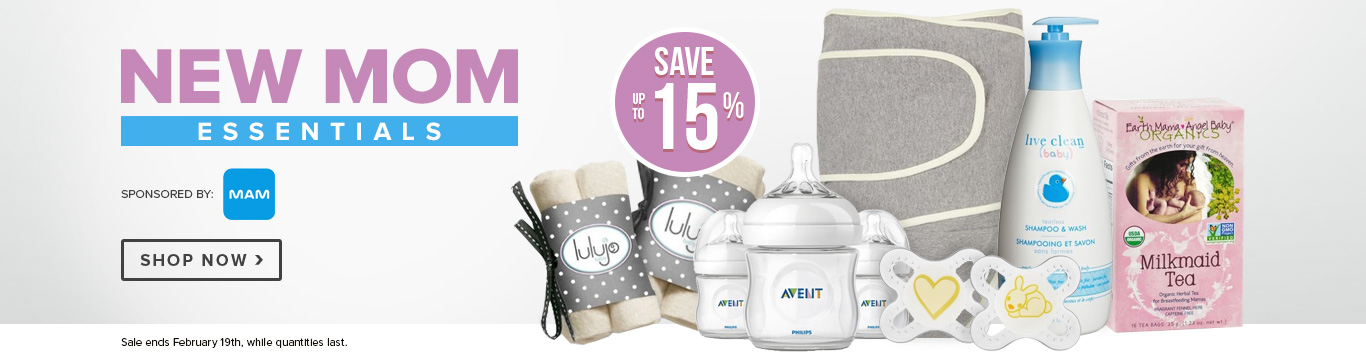 Save up to 15% on New Mom Essentials
