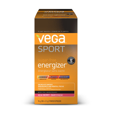Vega Sport Acai Berry Sugar-Free Energizer Singles Box