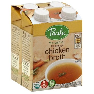 Pacific Organic Chicken Broth Low in Sodium