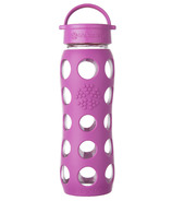Lifefactory Glass Bottle Huckleberry Classic Cap & Silicone Sleeve