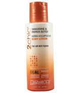 Giovanni 2chic Tangerine & Papaya Ultra-Voluptuous Body Lotion Travel Size