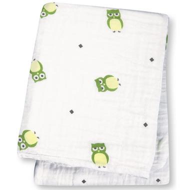 Lulujo Baby Muslin Cotton Swaddling Blanket Owls