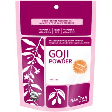 Navitas Naturals Organic Dried Goji Berries Powder