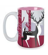 Kitsch'n Glam Deer Mug in Grey