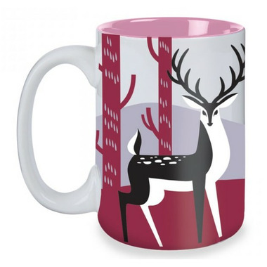 Kitsch\'n Glam Deer Mug in Grey