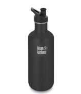 Klean Kanteen Classic Water Bottle with Sport Cap Shale Black Matte