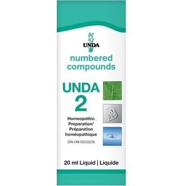 UNDA Numbered Compounds UNDA 2 Homeopathic Preparation