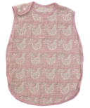 Living Textiles Muslin Reversible Sleeping Bag Pink Bird