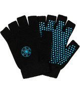 Gaiam Grippy Yoga Gloves Black & Blue