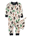 Hatley Baby Romper with Cap Lumberjack Animals