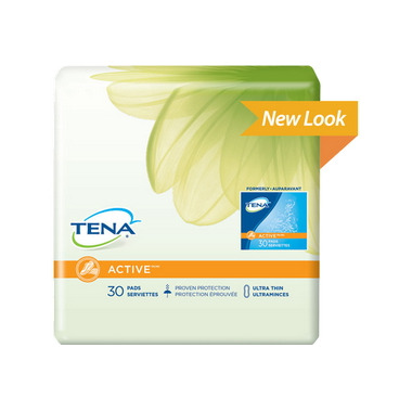 TENA ACTIVE Ultra Thin Regular Length Pads