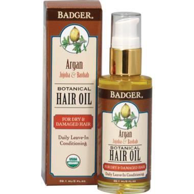 Badger Botanical Hair Oil for Dry & Damaged Hair