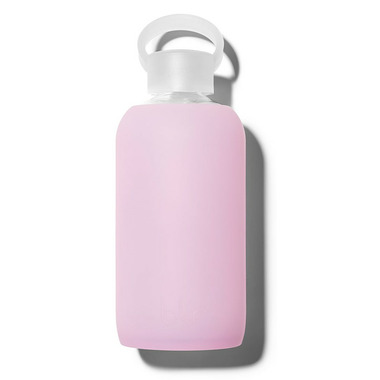 bkr Cupcake Glass Water Bottle Sheer Lilac Pink