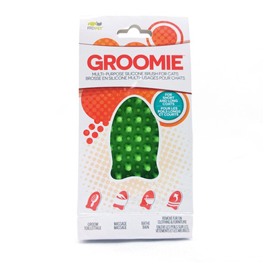 Groomie Multi-Purpose Brush Fish Green