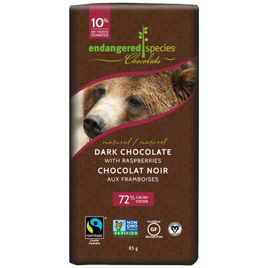 Endangered Species Natural Dark Chocolate with Raspberry