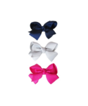 Baby Wisp Bowtastic Clips Navy
