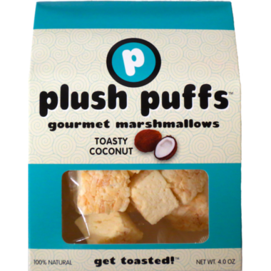Plush Puffs Toasty Coconut Gourmet Marshmallows