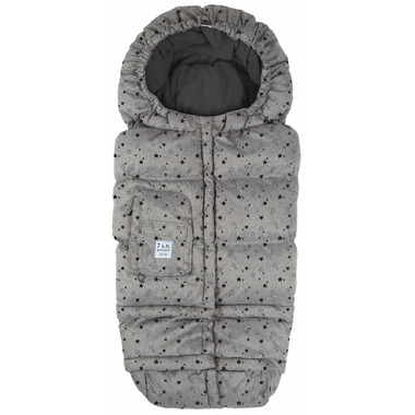 7 A.M Enfant Blanket 212 Evolution Heather Grey Stars