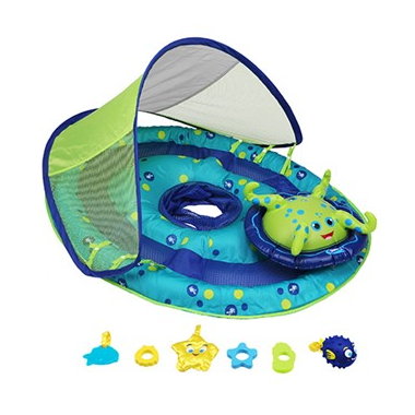 SwimWays Baby Spring Float Activity Center with Canopy Octopus