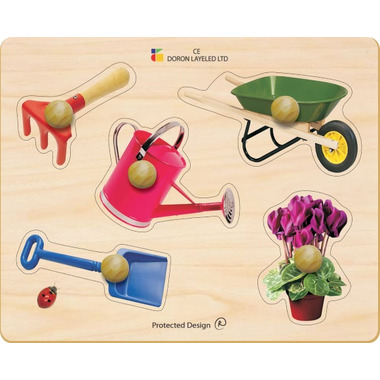 Buy edushape large knob wooden puzzle at free for Gardening tools crossword