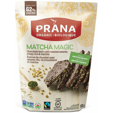 Prana Organic Matcha Magic Chocolate Bark