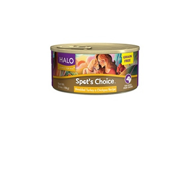 Halo Spot\'s Choice For Dogs Shredded Turkey & Chickpea Recipe