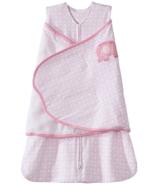 HALO SleepSack Swaddle Pink Diamond & Elephant Embroidery