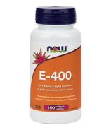 NOW Foods E-400 100% Natural d-Alpha Tocopheryl
