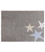 Lorena Canals Washable Rug Three Stars Blue