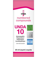 UNDA Numbered Compounds UNDA 10 Homeopathic Preparation