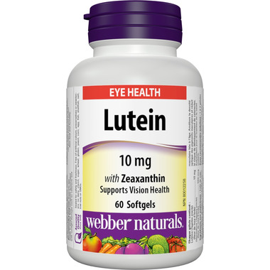 Webber Naturals Lutein With Zeaxanthin Softgels
