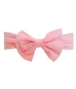 Baby Wisp Big Bow Headband Pink