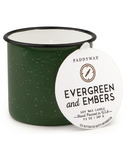 Paddywax Alpine Enamelware Green Evergreen & Embers Candle