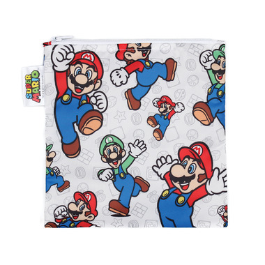 Bumkins Nintendo Reusable Snack Bag Large Super Mario and Luigi