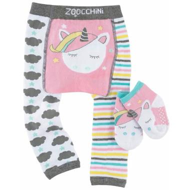 Zoocchini Comfort Crawler Legging & Socks Set Allie the Unicorn