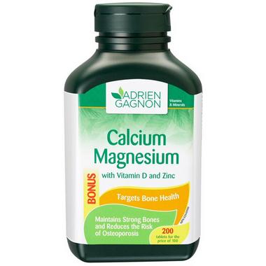 Adrien Gagnon Calcium Magnesium + Vitamin D and Zinc
