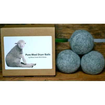 Buy Moss Creek Wool Works Wool Dryer Balls In Grey 3 Dryer