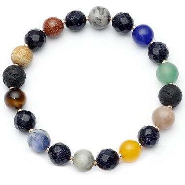 Oriwest Chakra Lava Bead Bracelet