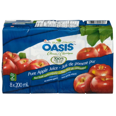 Oasis Pure Apple Juice Boxes
