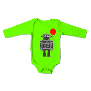 All Good Living Kids Balloon Bot Long Sleeve Onesie