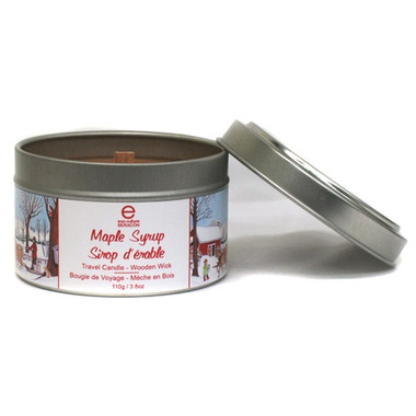Seracon Maple Travel Tin Candle with a Wooden Wick