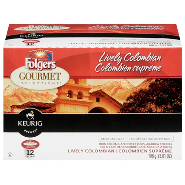 Folgers Gourmet Coffee Single Serve Capsules