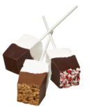 Saxon Chocolates Salted Caramel Hot Chocolate Marshmallow Stir Stick