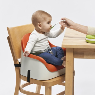 OXO Tot Orange Nest Booster Seat with Straps