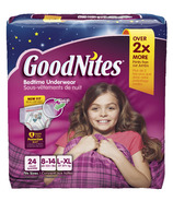 GoodNites Youth Pants For Girls Giga Pack